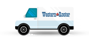 Western rooter plumbing van icon