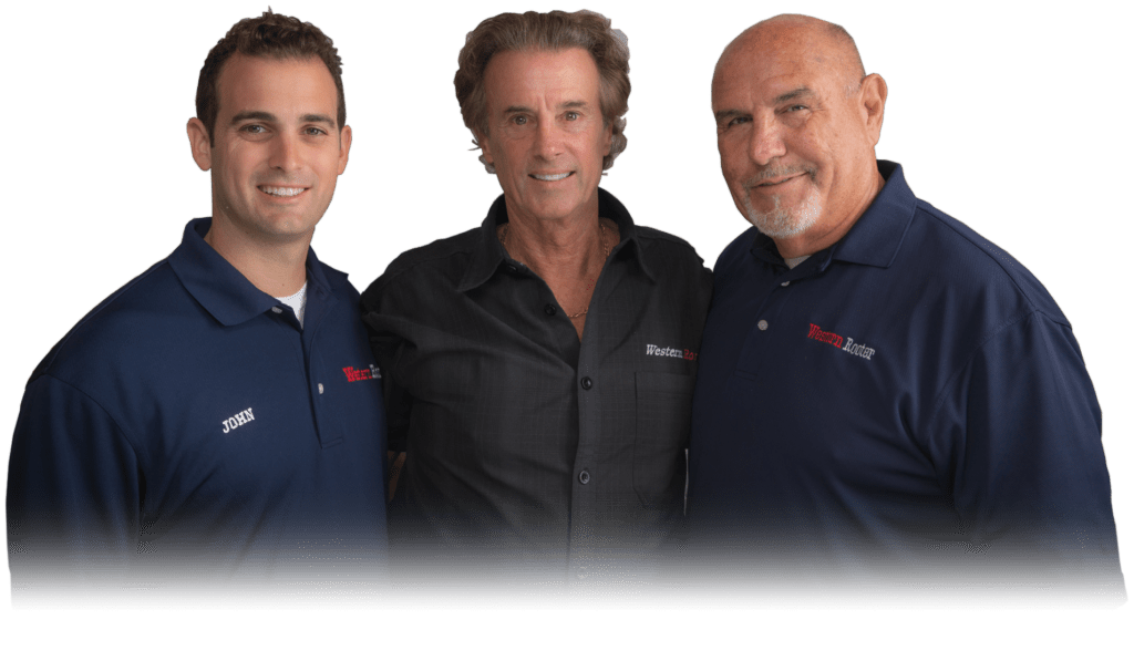 John, Larry, Mike, owners of Western Rooter & Plumbing