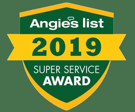 Angie's list super service award testimonials badge