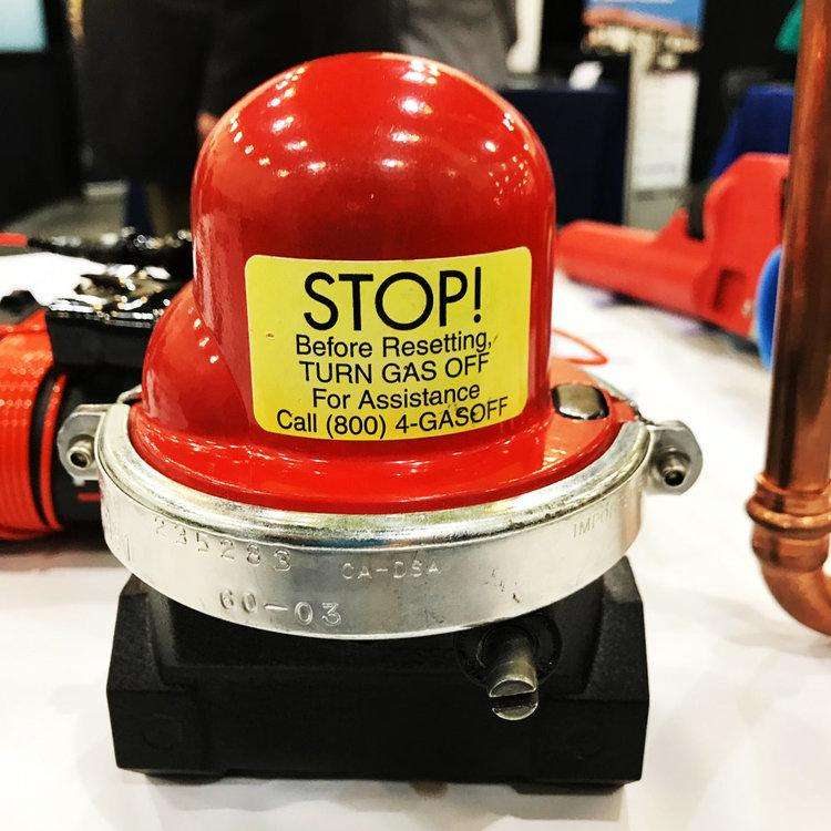 Emergency gas shutoff valve western rooter
